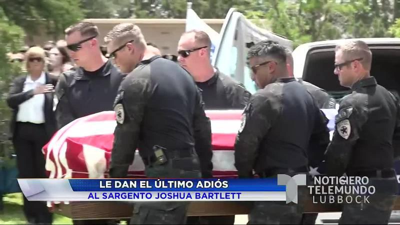 El viernes, 23 de julio, el condado de Lubbock dió su último adiós al sargento Joshua Bartlett.