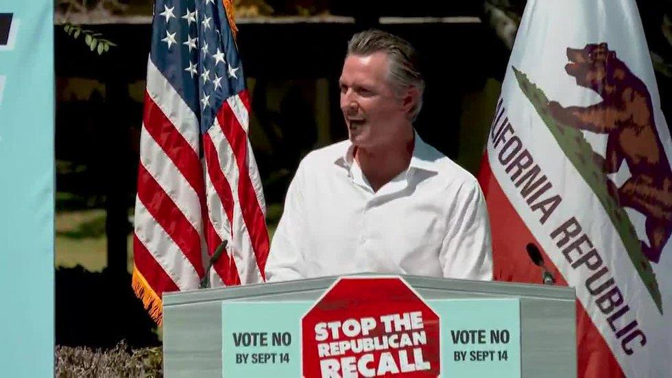 California Gov. Gavin Newsom is facing a recall vote.