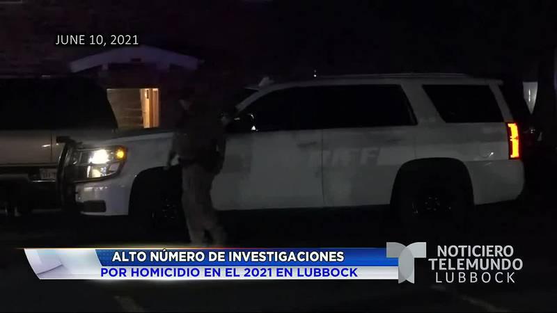 Alto número de investigaciones por homicidio en el 2021 en Lubbock